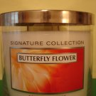 Bath and Body Works Butterfly Flower Candle Large 3 Wick