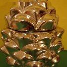 Bath & Body Works Slatkin Pine Cone Figural Fresh Balsam Candle Silver