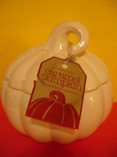 Bath & Body Works Slatkin Pumpkin Figural Candle in Caramel Pumpkin