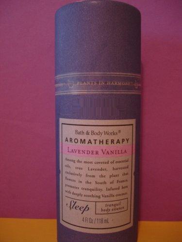 Bath & Body Works Aromatherapy Lavender Vanilla Essence Body Mist Spray Full Size Cardboard Sealed