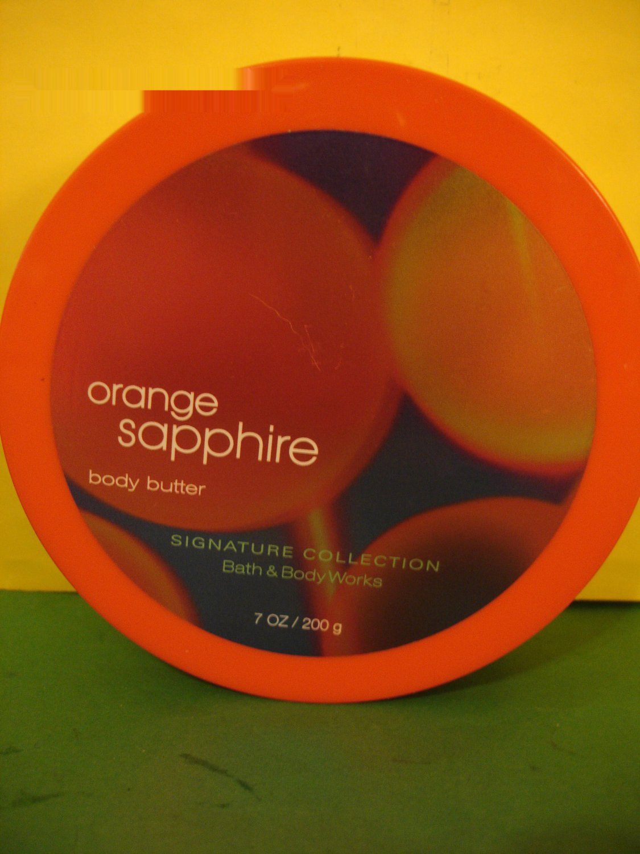 Bath Amp Body Works Orange Sapphire Body Butter Cream Large Full Size