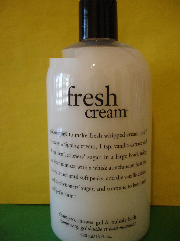 Philosophy Fresh Cream 3 in 1 Shampoo, Bubble Bath & Shower Gel 16 oz