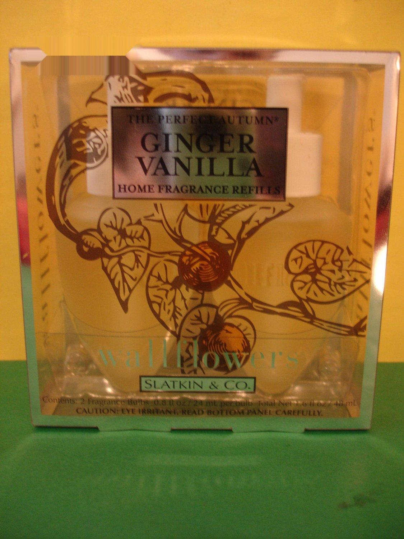 Bath & Body Works Slatkin 2 Ginger Vanilla Wallflower Refills