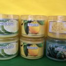 Bath & Body Works Slatkin 6 Sparkling Mojito, Fresh Lemon, Seaside Escape, Gelato 1.6 oz Candle