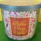 Bath & Body Works Praline Pecan Cobbler 3 Wick Candle Large