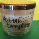 Bath and Body Works Sparkle Every Day Confetti Cupcake 3 Wick Candle Large