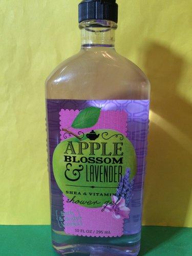 Bath & Body Works Apple Blossom and Lavender Shower Gel Full Size