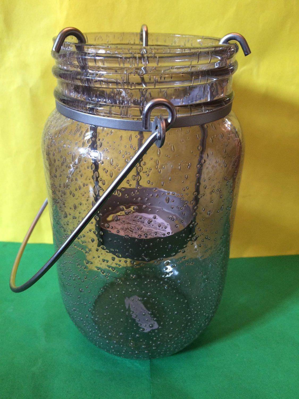 Bath and Body Works Smokey Bubble Glass Mini Candle Holder Pedestal