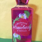 Bath & Body Works Bourbon Strawberry and Vanilla Shower Gel Large 10 oz