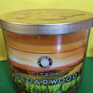 Bath and Body Works Citron Cedarwood 3 Wick Candle Large