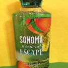 Bath & Body Works Sonoma Weekend Escape Shower Gel Full Size