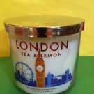 Bath and Body Works London Tea and Lemon Candle London Eye Label Large 3 Wick