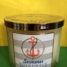Bath and Body Works Summer Boardwalk Anchor Candle Large 3 Wick
