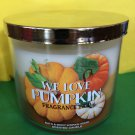 Bath and Body Works We Love Pumpkin Candle Large 3 Wick