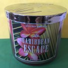 Bath & Body Works Carribean Escape 3 Wick Candle Large