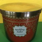 Bath & Body Works Sparkling Amber 3 Wick Large