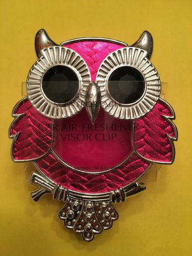 Bath & Body Works Pink Owl Scentportable Car Visor Clip