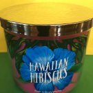 Bath & Body Works Hawaiian Hibiscus 3 Wick Candle Large