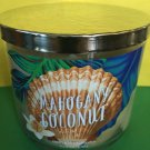 Bath & Body Works Mahogany Coconut 3 Wick Candle Large