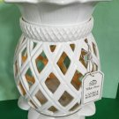Bath and Body Works Pineapple White & Yellow Large Luminary Candle Holder
