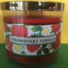 Bath & Body Works Strawberry Vanilla Large 3 Wick Candle