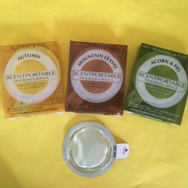 Bath & Body Works Scentportable Refill Acorn Fig , Autumn, Mountain Leaves, Evergreen