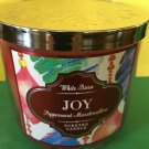 Bath and Body Works Joy Peppermint Marshmallow 3 Wick Candle Large