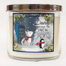 Bath and Body Works Dashing Through The Snow 3 Wick Candle Large