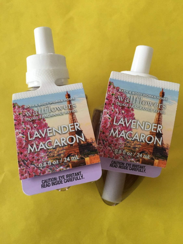 Bath Amp Body Works 2 Lavender Macaron Wallflower Refill Bulbs