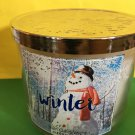 Bath and Body Works  Winter 3 Wick Candle Large