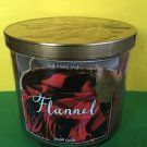 Bath and Body Works Flannel 3 Wick Candle Large