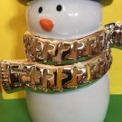 Bath and Body Works Ceramic Black and Silver Snowman Candle Holder
