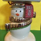Bath and Body Works Snowman Ceramic Pedestal Candle Holder Large