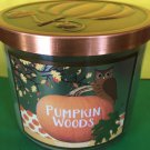 Bath and Body Works Pumpkin Woods Candle Large Full Size