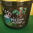 Bath and Body Works Hot Cocoa and Cream Candle Large Full Size 3 Wick