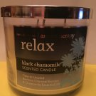 Bath & Body Works Aromatherapy Black Chamomile 3 Wick Candle Large