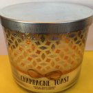 Bath & Body Works Champagne Toast 3 Wick Candle Large