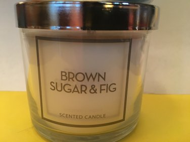 Bath and Body Works Brown Sugar and Fig Single Wick 4 oz Candle