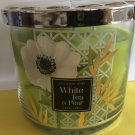 Bath & Body Works White Tea and Pear 3 Wick Cande Large