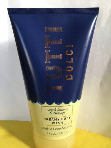 Bath and Body Works Tutti Dolci Sweet Lemon Buttercup Creamy Body Wash Large Full Size 8 oz