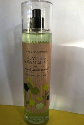 Bath & Body Works Jasmine and Green Apple Fine Fragrance Mist Full Size 8 oz