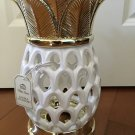 Bath and Body Works Pineapple White & Metallic Gold Large Luminary Candle Holder