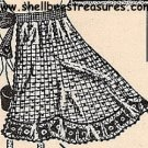 Crocheted Apron Pattern Vintage - 723002