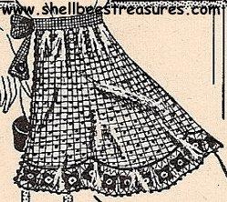 Crocheted Apron Pattern Vintage - 723002