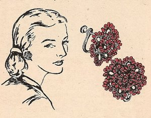 Flower Earrings Beaded Tatting Vintage Pattern 729002