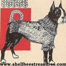 Reqal Dog Knitted Blanket-Sweater Pattern Vintage - 726028
