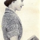 Mystery Shrug Knitting Pattern Vintage 1957 - 726014