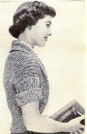 Mystery Shrug Knitting Pattern Vintage 1957 - 726014