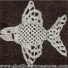 Crocheted Fish Applique - 1950 - Vintage - 723029