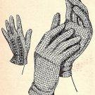 Crochet Gloves Pattern 1949 Vintage 723025
